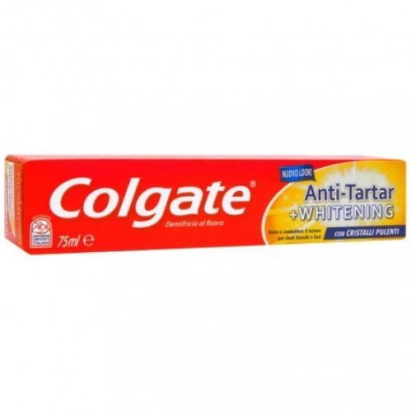Colgate pasta de dientes antisarro + blanqueador 75 ml