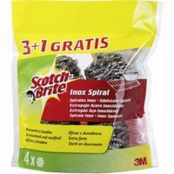 Scotch brite estropajo de acero inoxidable 3+1