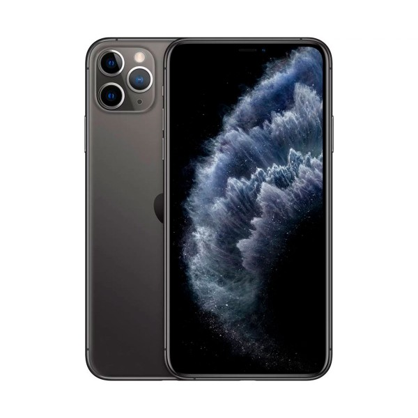 Apple iphone 11 pro max gris espacial móvil dual sim 4g 6.5'' super retina xdr cpu a13/64gb/4gb ram/12+12+12mp/12mp