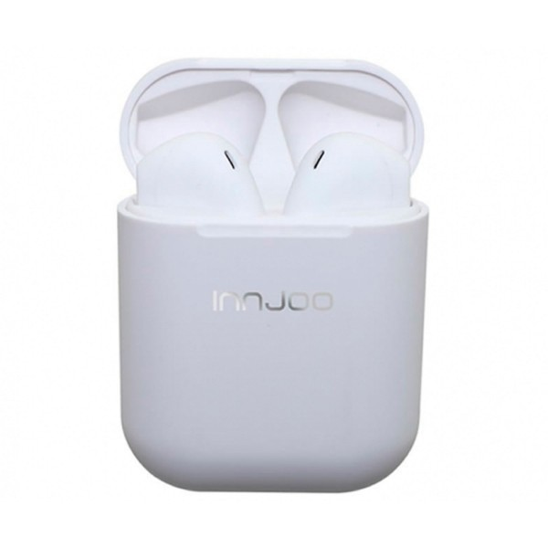 Innjoo go v2 blanco auriculares inalámbricos bluetooth con estuche batería