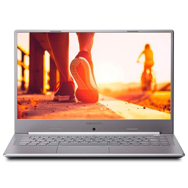 Medion s6445 plata portátil ultrafino 15.6'' fullhd i5-8264u 3.9ghz 256gb-ssd 8gb ram win10 home