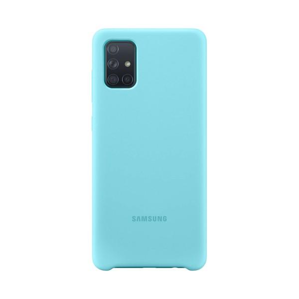 Samsung silicone cover azul galaxy a71 funda trasera