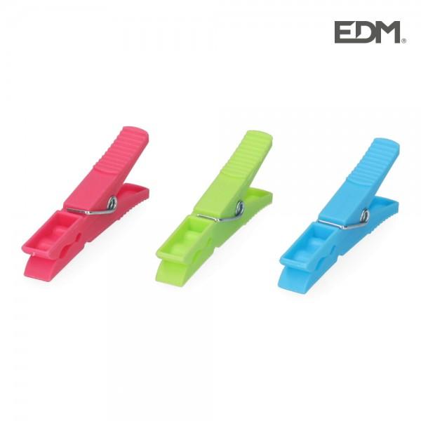Pack 12 pinzas de plastico gigante edm