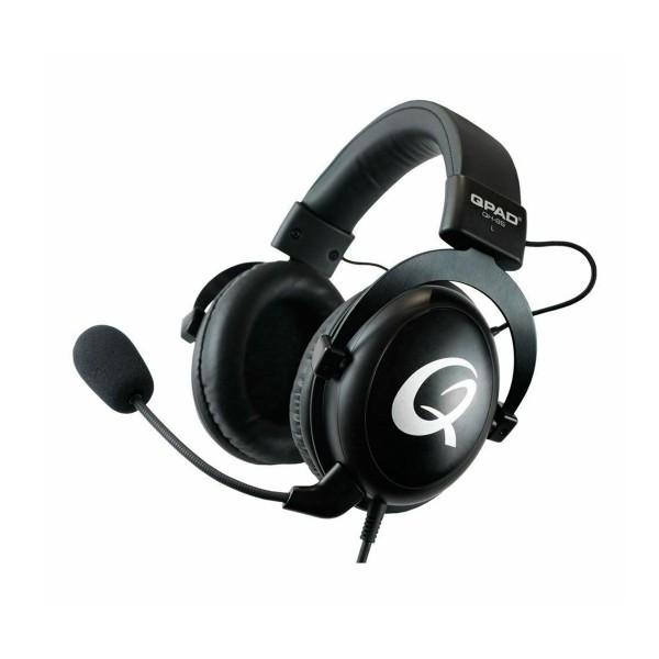 Qpad qh95 premium stereo negro/ auriculares multiplataforma/estéreo/rgb