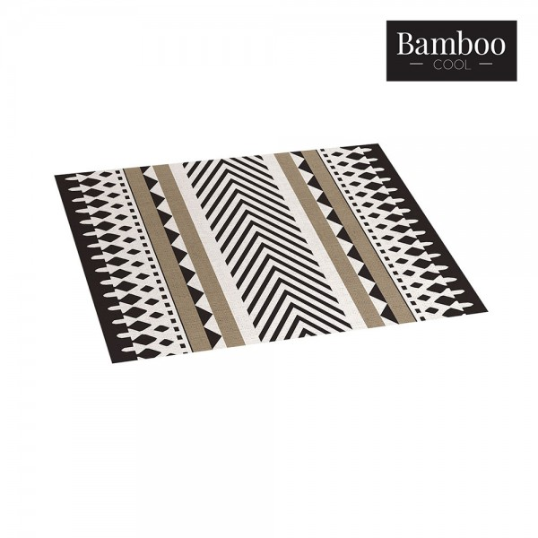Alfombra bamboo etnic negro-gris 120x180cm croma